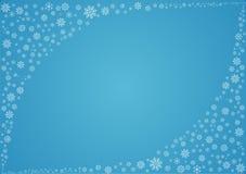 Fondo del invierno con los copos de nieve Foto de archivo