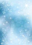Fondo del invierno con los copos de nieve. EPS10. Foto de archivo libre de regalías
