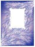 Fondo del invierno con los cristales de hielo stock de ilustración