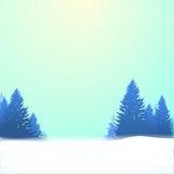 Fondo del invierno con los pinos y la nieve Vector EPS 10 Foto de archivo