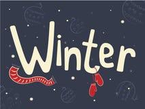 Fondo del invierno con nieve Imagen de archivo