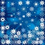 Fondo del invierno con nieve que cae Imagen de archivo libre de regalías