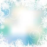 Fondo del invierno, copos de nieve libre illustration