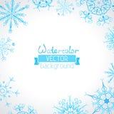 Fondo del invierno de la acuarela del vector ilustración del vector