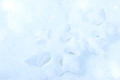 Fondo del invierno de la Navidad con los copos de nieve Fotos de archivo libres de regalías