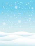 Fondo del invierno de la nieve Imagen de archivo