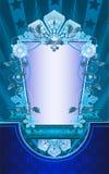 Fondo del invierno de la vendimia con los copos de nieve. Fotografía de archivo