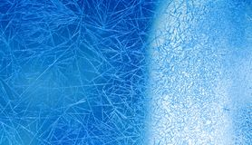 Fondo del invierno de Navidad Opinión macra congelada de las flores de la ventana y del hielo Foco selectivo imagen de archivo libre de regalías