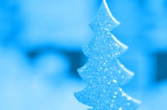 Fondo del invierno del árbol de navidad Foto de archivo