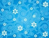 Fondo del invierno del copo de nieve. Foto de archivo libre de regalías