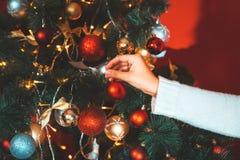 Fondo del invierno del día de fiesta Fotografía de archivo