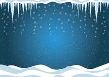 Fondo del invierno. Ilustración del vector de la Navidad. libre illustration
