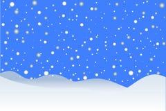 Fondo del invierno que nieva Foto de archivo libre de regalías