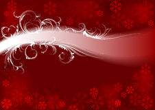 Fondo del invierno. Rojo. libre illustration
