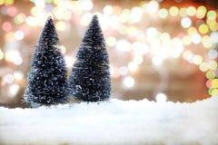 Fondo del invierno y concepto de la Navidad Foto de archivo