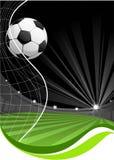 Fondo del juego de fútbol Imágenes de archivo libres de regalías