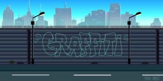 Fondo del juego de la ciudad stock de ilustración