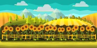 Fondo del juego de la granja stock de ilustración