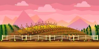 Fondo del juego de la granja libre illustration