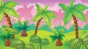 Fondo del juego de la selva libre illustration