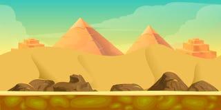 Fondo del juego del desierto stock de ilustración