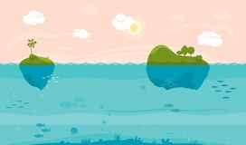 Fondo del juego del mar Imagen de archivo libre de regalías