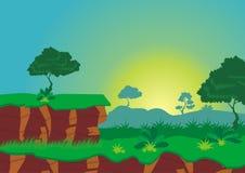 Fondo del juego del paisaje de la naturaleza Imagen de archivo
