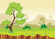 Fondo del juego del paisaje de la naturaleza Imagen de archivo libre de regalías