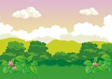 Fondo del juego del paisaje de la naturaleza Foto de archivo libre de regalías