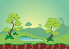 Fondo del juego del paisaje de la naturaleza Imagenes de archivo
