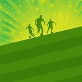 Fondo del jugador de fútbol y de la bola Foto de archivo libre de regalías