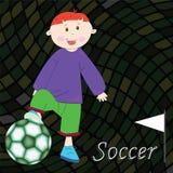 Fondo del jugador de fútbol Imagen de archivo libre de regalías