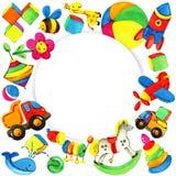 Fondo del juguete para los niños Foto de archivo libre de regalías