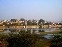 Fondo del lago del chalet de Udaipur Fotos de archivo libres de regalías