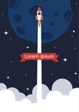 Fondo del lancio di Rocket Immagine Stock