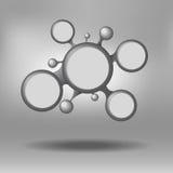 Fondo del lavoro della rete del cerchio Fotografia Stock