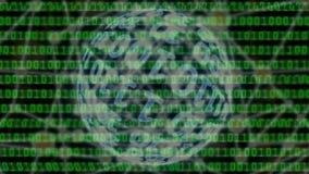 Fondo del lazo de la exploración de los datos binarios de Digitaces ilustración del vector