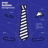 Fondo del legame di progettazione del vestito nel concetto del modello. illustrazione vettoriale