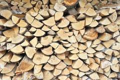 Fondo del legno di betulla tagliato Fotografia Stock Libera da Diritti