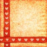Fondo del libro de recuerdos de la tarjeta del día de San Valentín Foto de archivo libre de regalías