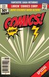 Fondo del libro di fumetti di vettore con la bolla di scoppio del fumetto royalty illustrazione gratis