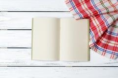 Fondo del libro di ricetta fotografia stock