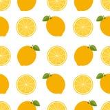 Fondo del limón Modelo inconsútil con los limones Estilo plano Vect ilustración del vector