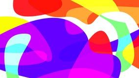Fondo del liquido di tecnologia Progettazione d'avanguardia al neon variopinta per la disposizione della carta da parati, dell'op illustrazione di stock