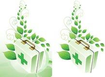 Fondo del médico de Eco. Fotos de archivo libres de regalías