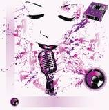 Fondo del música pop Imagen de archivo libre de regalías