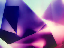 Fondo del magenta del triangolo Fotografia Stock