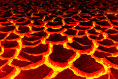 Fondo del magma, il astage rosso della crepa per fondo Immagine Stock Libera da Diritti