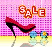 Fondo del manifesto degli accessori di modo e delle scarpe Immagine Stock