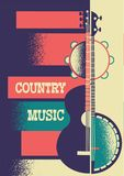 Fondo del manifesto di musica con gli strumenti musicali e la decorazione illustrazione vettoriale